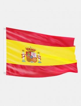 Drapeau Espagne avec blason...