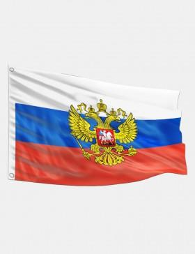 Fahne Russland mit Wappen...