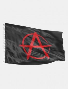 Drapeau Anarchie rouge 90 x...