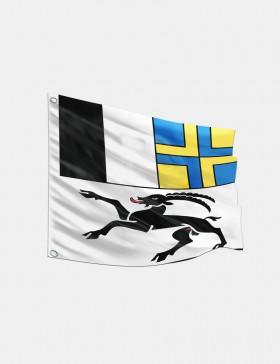 Fahne Graubünden 120 x 120 cm