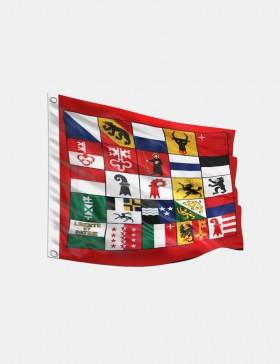 Fahne Schweiz 25 Kantone...