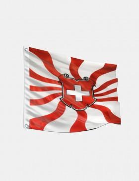 Drapeau Suisse flammé 120 x...